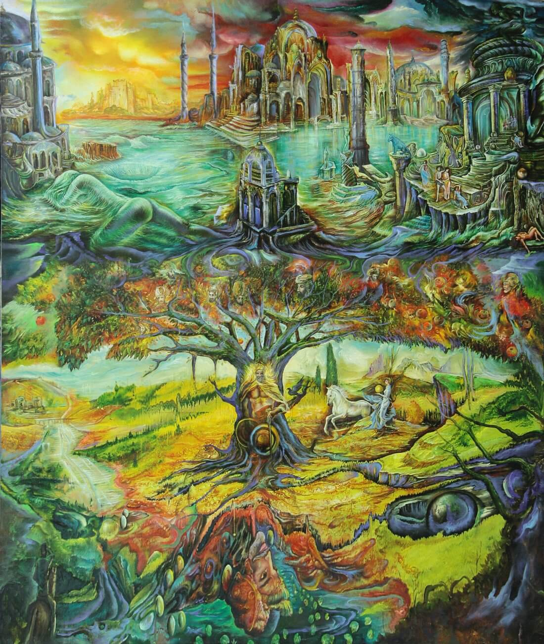 THE DREAM OF OSMAN GAZI, 2011Oil on Canvas100 x 1200 mm (app 39 x 47 inch)